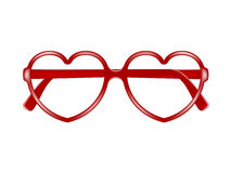 Sun glasses frame in shape of heart Stock Image