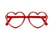 Sun glasses frame in shape of heart Stock Image