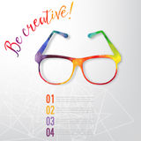 Sun glasses made n of colorful watercolor,  vector Royalty Free Stock Photo