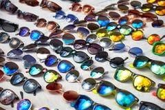 Sun Glasses. Multiple colorful Summer Sun Glasses stock images