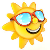 Sun and glasses stock illustration