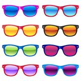 Sun glasses set Royalty Free Stock Photo