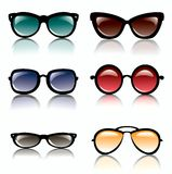 Sun glasses set of icons Royalty Free Stock Image