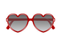 Sun glasses in shape of heart Stock Image