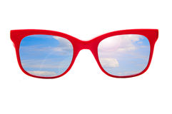 Sun glasses and skies Stock Photography