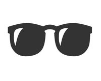 Sun glasses symbol. On white background Stock Image