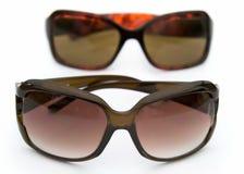 Sun glasses on a white Stock Photos