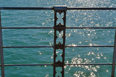 Sun Glistened Specs On Turquoise Water Royalty Free Stock Image