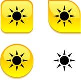 Sun glossy button. Royalty Free Stock Photos
