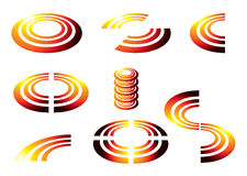 SUN GLOW icon Royalty Free Stock Photo