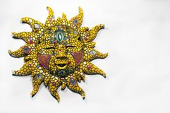 Sun God. An isolated image of a decorated Sun God royalty free stock image