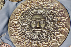 The Sun God Jarilo. Ancient Slavic an image of the Sun God Jarilo stock images