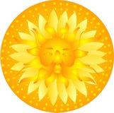 Sun god shines down on the earth, illustration.. Stock Photo