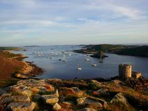 The sun goes down on the Isles of Scilly Royalty Free Stock Photo