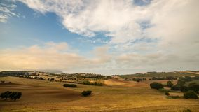 Sunset in the italian countryside Royalty Free Stock Photo