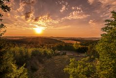 Sunset. When the sun goes down royalty free stock photo