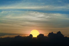The sun is going down Royalty Free Stock Image