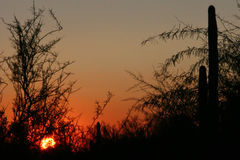 Sun Going Down royalty free stock photography