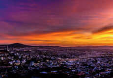 Free Sun Going Down Over The City Of Queretaro Mexico. Royalty Free Stock Images - 62905109