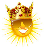 Sun in a golden crown Royalty Free Stock Photos