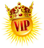 Sun in a golden crown Royalty Free Stock Photography