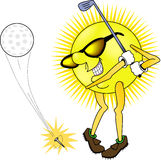 Sun_golfing Stockfotos