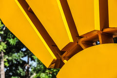 Sun-Grafik des Stahls Stockfotos