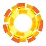Sun-Grafikdesignelement Lizenzfreie Stockfotografie