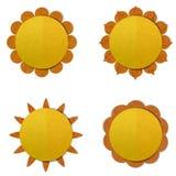 Sun grande, arte de papel Foto de Stock