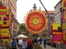 Sun grande en el festival de la calle Imágenes de archivo libres de regalías