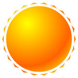 Sun graphics with bright gradient fill. Graphic for summer, sola. Rium, happiness or rellated theme - Royalty free vector illustration Royalty Free Stock Photography