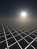Sun and Grid Horizon Stock Photos