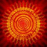 Sun grunge background Stock Image