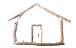Casa di legno candeggiata della deriva Immagini Stock Libere da Diritti