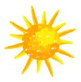 Sun ha verniciato illustrazione vettoriale