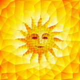 Sun hace frente Imagen de archivo libre de regalías