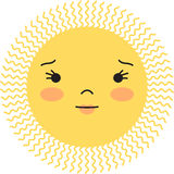 Sun hace frente Imagen de archivo
