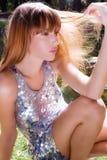 Sun through hair royalty free stock image