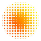 Sun halftone Royalty Free Stock Photo