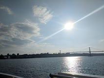 Sun in Halifax Nova Scotia royalty free stock image
