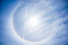 Sun Halo on April 16th, Tampa Florida Stock Photos