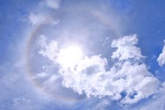 Sun halo Stock Image