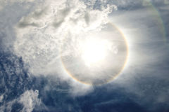 Sun halo Stock Images