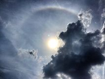 Sun halo Stock Photos