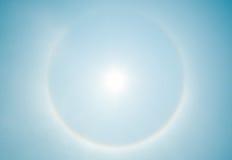 Sun halo phenomenon Stock Images
