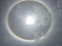 The Sun halo, słońce korona słoneczna Fotografia Royalty Free