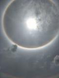 The Sun-halo, zoncorona Stock Foto's