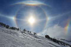 Sun Halos Royalty Free Stock Images