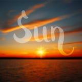 Sun hand drawn design Stock Photography
