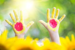Sun in hands Royalty Free Stock Photos